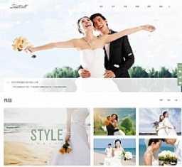 简洁大气响应式婚礼策划婚纱摄影机构网站源码 织梦dedecms模板