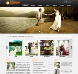 婚纱摄影网站模版织梦大气影楼摄影企业网站模板